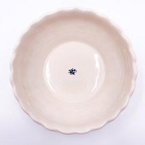 Gospodinjska keramika - skledica rebrana za oreščke, sladice, kompote
