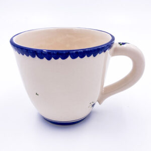 Glazirana keramična skodelica za kavo, čaj, kakav.