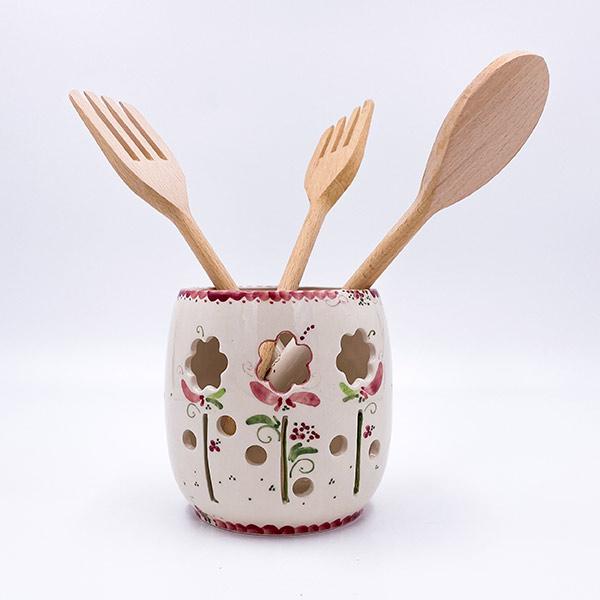 Keramična posoda za shranjevanje kuhle in kuhalnic. Glasirana keramika, visoka kvaliteta.