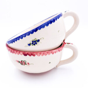 Skledica Jumbo z ravnim robom in ročajem - ročno delo, gospodinjska keramika