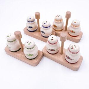 Keramični set solnice in poprnice - glazirana keramika.